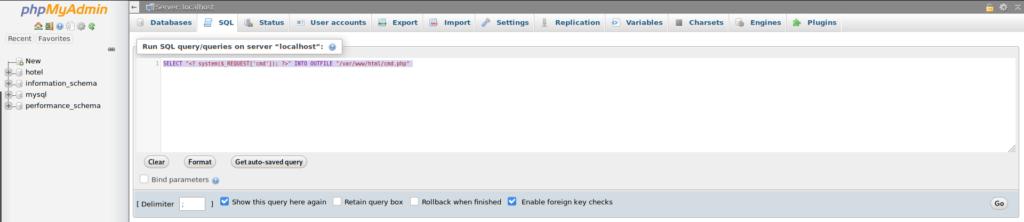 PHP webshell upload